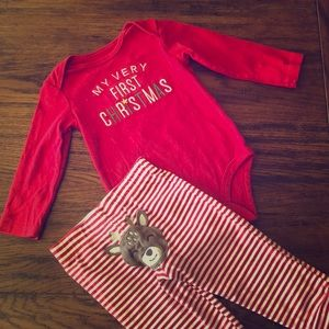 Carter's Matching Sets - Carters 2pc 18month Christmas Outfit